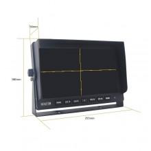 """Monitorius TFT10HD4 10"""" AHD 12/24V"""